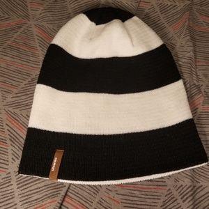 NWOT Black and White Burton beanie